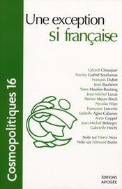 Cosmopolitiques T.16 ; Une Exception Si Française - Intérieur - Format classique