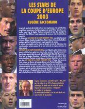 Les Stars De La Coupe D'Europe 2003 - 4ème de couverture - Format classique