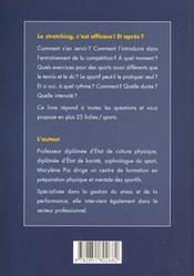 Stretching Au Service Des Sportifs - 4ème de couverture - Format classique