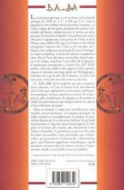 Tradition grecque t.1 - 4ème de couverture - Format classique