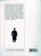 Les revenants - 4ème de couverture - Format classique