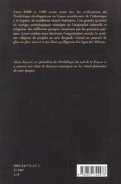 Traditions Funeraires Neolithiques En France Meridionale - 4ème de couverture - Format classique