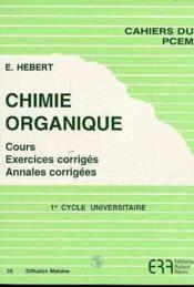 Chimie Organique N.29 - Couverture - Format classique