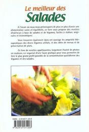 Le meilleur des salades - 4ème de couverture - Format classique