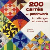 200 carrés en patchwork - Intérieur - Format classique