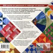 200 carrés en patchwork - 4ème de couverture - Format classique