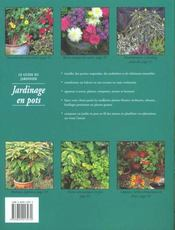Plantes Et Fleurs En Pots - 4ème de couverture - Format classique