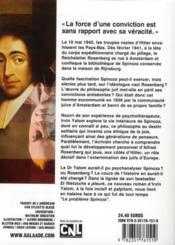 Le problème Spinoza - 4ème de couverture - Format classique