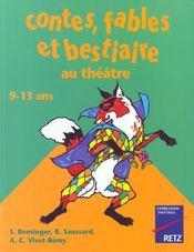 Contes, fables et bestiaires au théâtre - Intérieur - Format classique