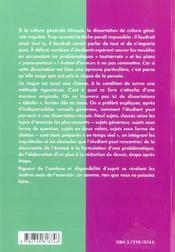 Culture Generale Methodologie De La Dissertation - 4ème de couverture - Format classique