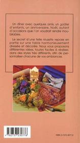 Creez Et Fabriquez Vos Decors De Table - 4ème de couverture - Format classique