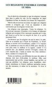 Les Religions Ensemble Contre Le Sida - 4ème de couverture - Format classique