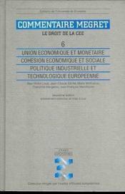 Union Economique Et Monetaire. Cohesion Economique Et Sociale - Couverture - Format classique