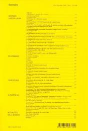 Revue Evolution Psychiatrique N.70 - 4ème de couverture - Format classique