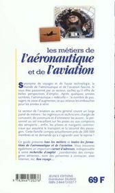 Metiers De L'Aeronautique Et De L'Aviation (Les) - 4ème de couverture - Format classique