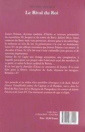Rival Du Roi (Le) - 4ème de couverture - Format classique