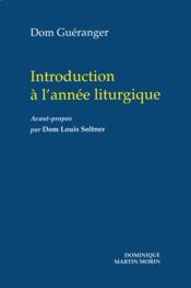 Introduction a l annee liturgique - Couverture - Format classique