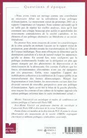 Vers Un Nouvel Anticapitalisme ; Pour Une Politique D'Emancipation - 4ème de couverture - Format classique