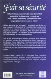 Fuir Sa Securite - 4ème de couverture - Format classique