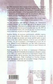 Albertine sarrazin - 4ème de couverture - Format classique