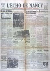 Echo De Nancy (L') N°1020 du 22/09/1943 - Couverture - Format classique