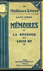 Memoires - La Regence Et Louis Xiv - Couverture - Format classique