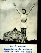 Les 5 Minutes Journalieres De Maintien Dans La Salle De Classe - Couverture - Format classique