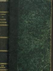 Pages Choisies A L'Usage Des Lyceees Et Des Ecoles - Couverture - Format classique