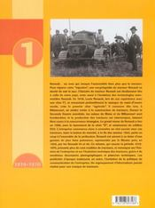 Encyclopedie Du Tracteur Renault (1919/1970) Tome 1 - 4ème de couverture - Format classique