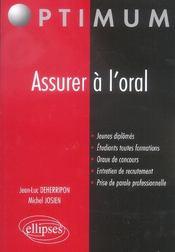 Assurer A L'Oral - Intérieur - Format classique