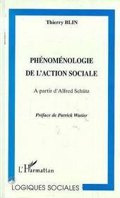 Phenomenologie De L'Action Sociale ; A Partir D'Alfred Schutz - Intérieur - Format classique
