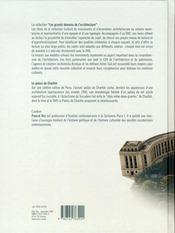 Le Palais De Chaillot - 4ème de couverture - Format classique