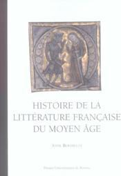 Histoire De La Litterature Francaise Au Moyen Age - Couverture - Format classique