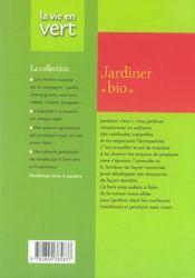 Jardiner bio - 4ème de couverture - Format classique