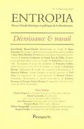 Entropia ; Décroissance Et Travail - Intérieur - Format classique