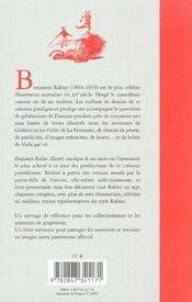 Benjamin Rabier Illustre Catalogue De Son Oeuvre - 4ème de couverture - Format classique