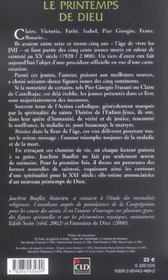 Le Printemps De Dieu ; Les Saints De La Generation Jean-Paul Ii - 4ème de couverture - Format classique