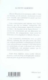 Le petit alberto - 4ème de couverture - Format classique