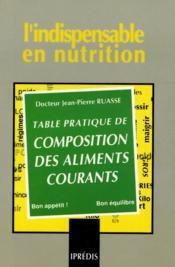 Table pratique de composition des aliments courants - Couverture - Format classique