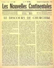 Nouvelles Continentales (Les) N°132 du 25/09/1943 - Couverture - Format classique
