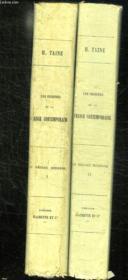 2 Tomes. Les Origines De La France Contemporaine. Le Regime Moderne. - Couverture - Format classique