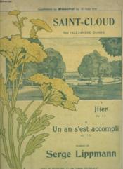 Saint Cloud - N°1 : Hier Pour Piano Et Chant. - Couverture - Format classique