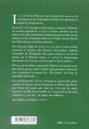 When & Where Dictionnaire Historique Du Monde Anglophone - 4ème de couverture - Format classique