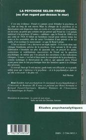 La Psychose Selon Freud Ou D'Un Regard Par-Dessus Le Mur - 4ème de couverture - Format classique