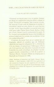 La Vie De Liszt Est Un Roman (Ne) Babel 81 - 4ème de couverture - Format classique