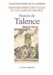 Talence (Histoire De) - Couverture - Format classique