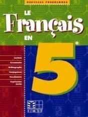 Le Francais En 5e - Couverture - Format classique