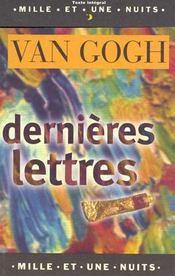 Dernières lettres - Intérieur - Format classique