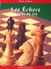 Echecs Regles Du Jeu - Intérieur - Format classique