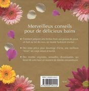 99 Idees Pour Le Plaisir Du Bain - 4ème de couverture - Format classique
